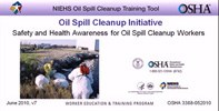 Safety and Health Awareness for Oil Spill Cleanup Workers Thumbnail