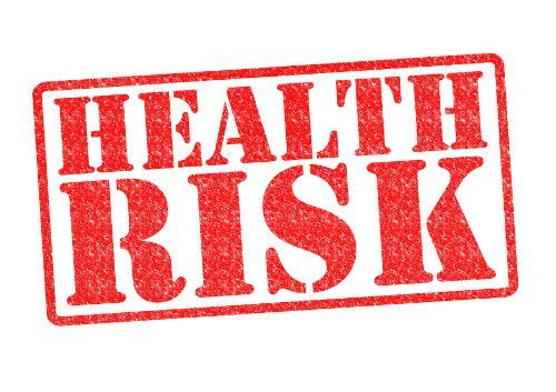 "A food chemical safety image of a stamp with the words ""Health Risk."""