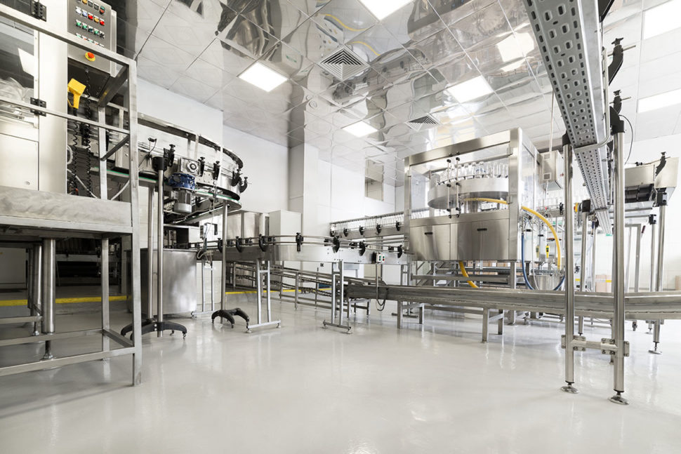Cleaning and sanitizing in food manufacturing.