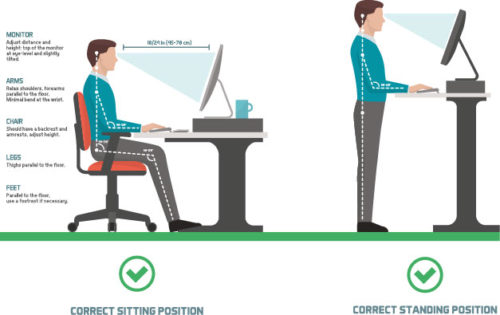 Correct Sitting Standing Postion