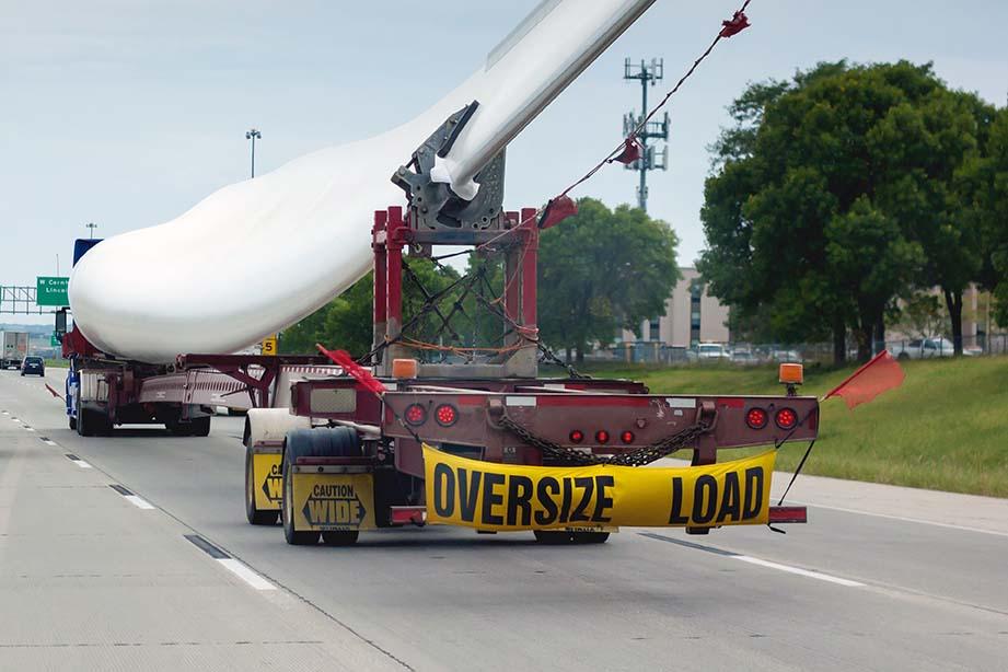 oversized truck cargo load
