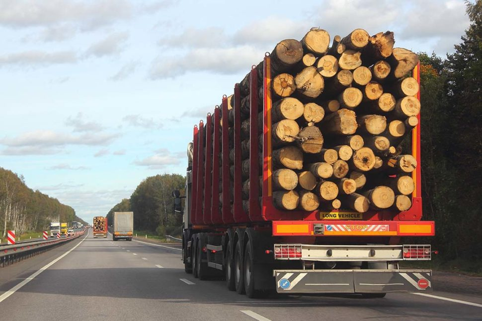 Secure timber truck load