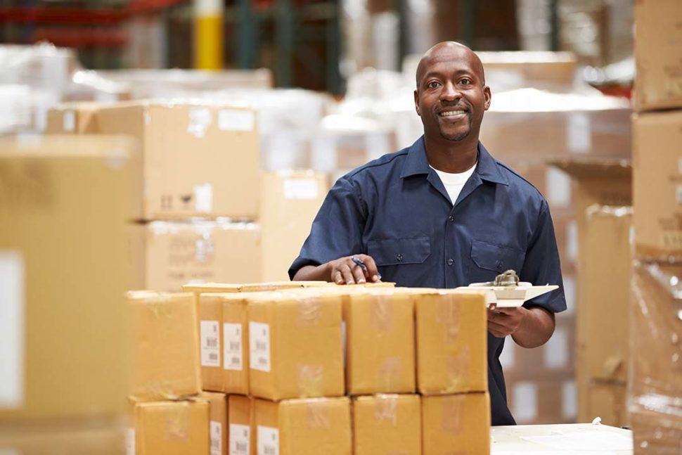 Warehouse employee covered under FLSA.