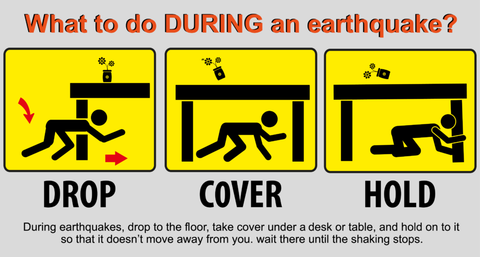 earthquake safety steps