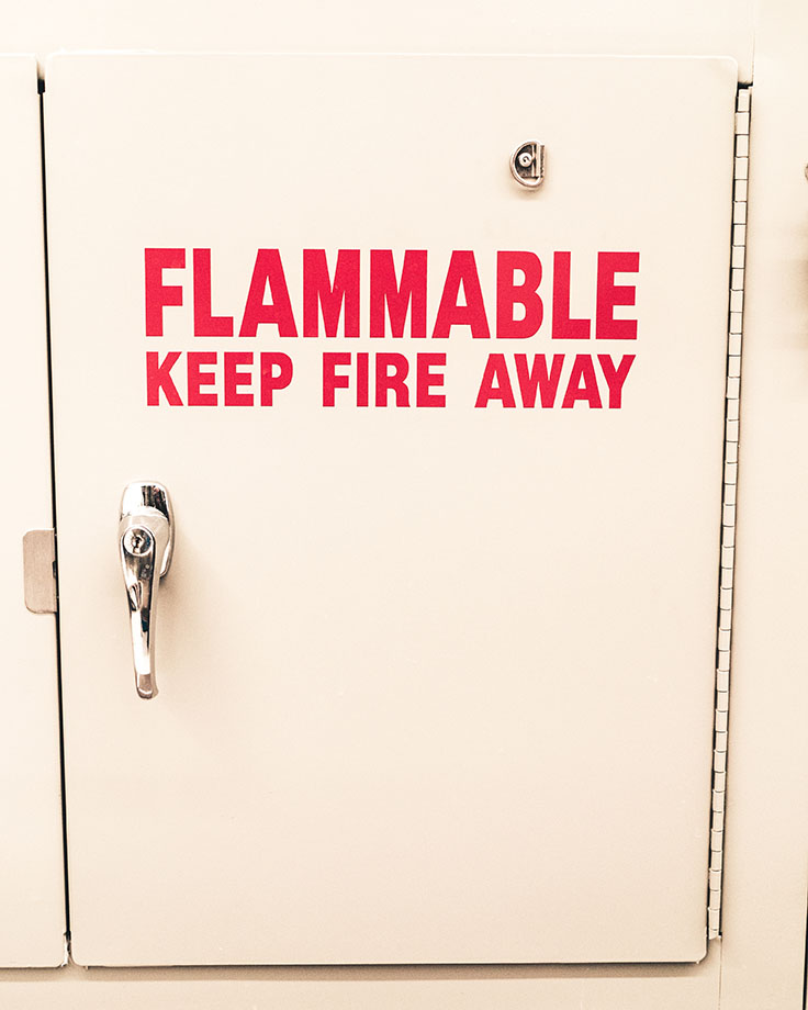 Non-flammable cabinet