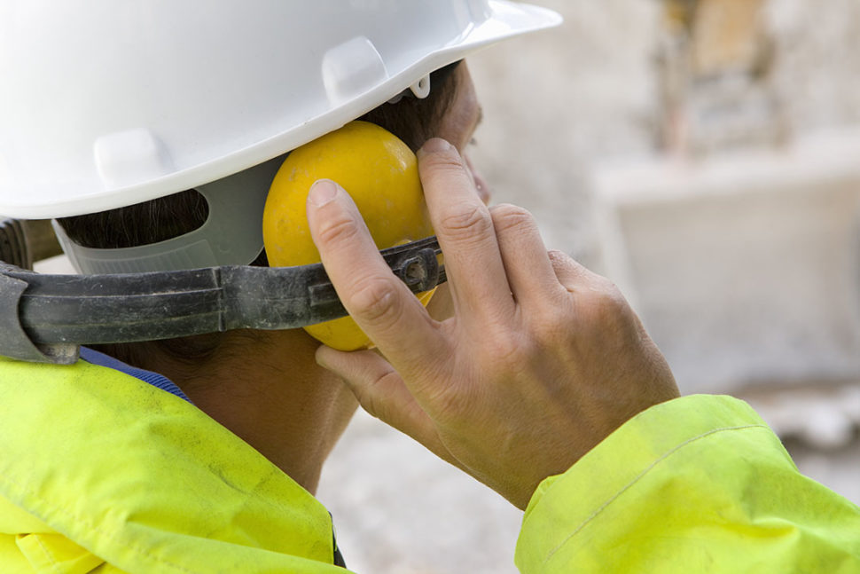 Oil and Gas worker wearing hearing PPE