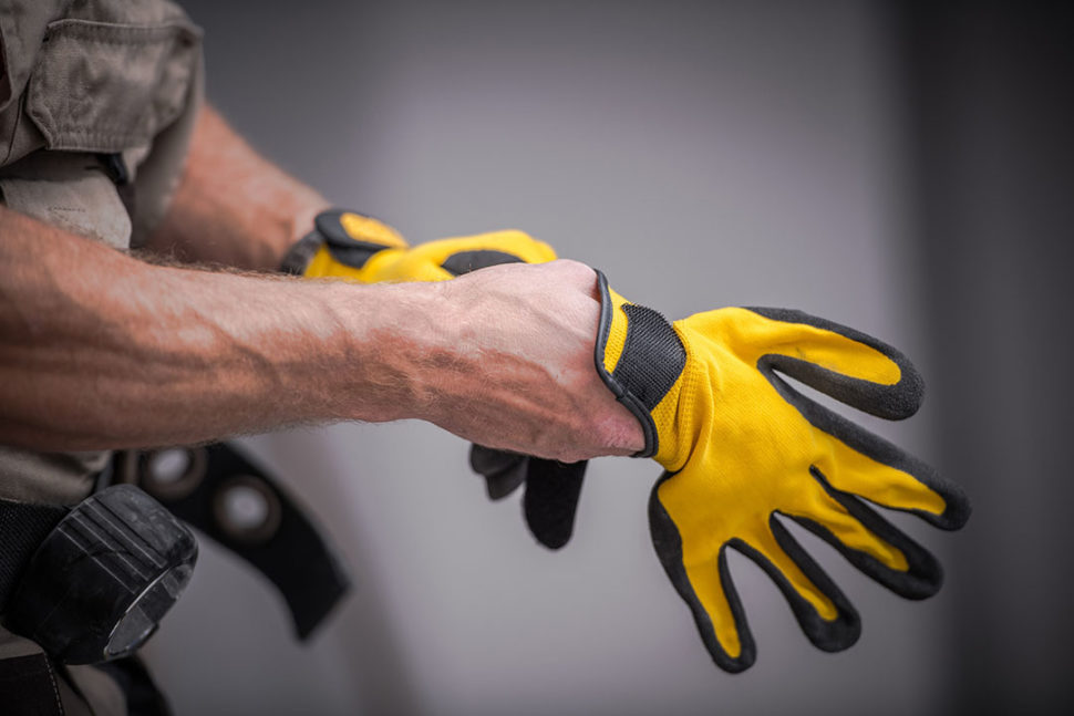 Safety gloves used as PPE