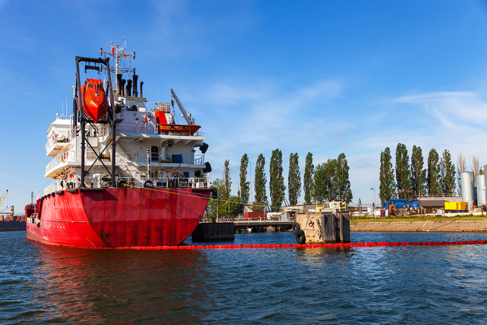 Ship protected oil spills