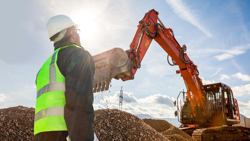 Competent person supervising excavation