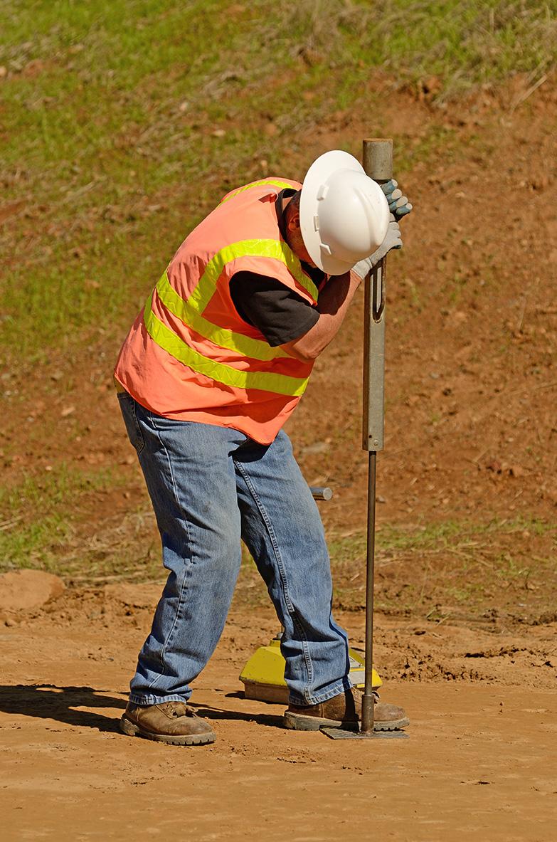 Soil test for excavation site.