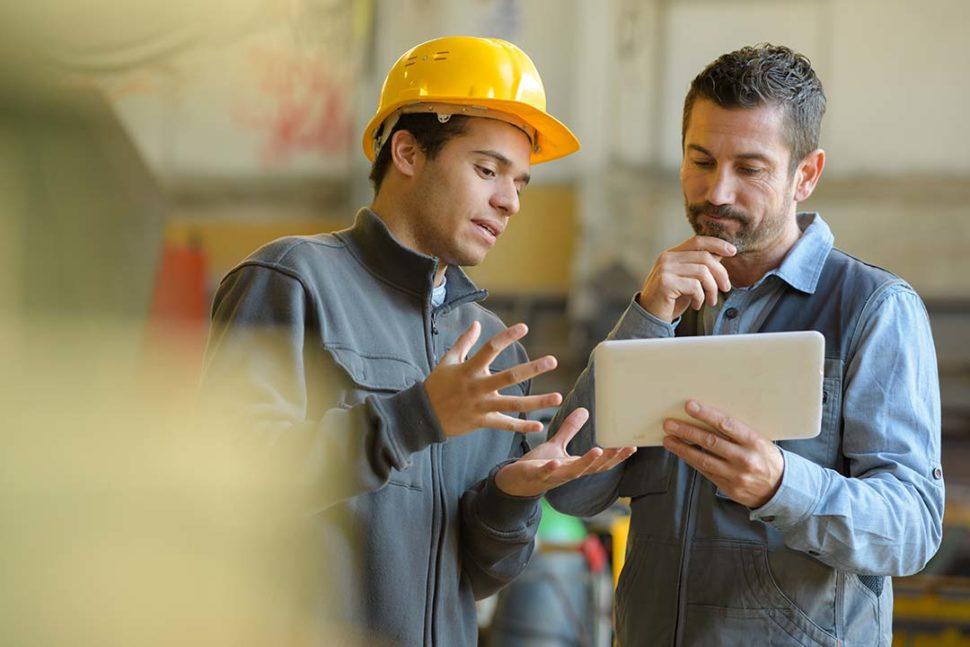Employers using tablet-based training