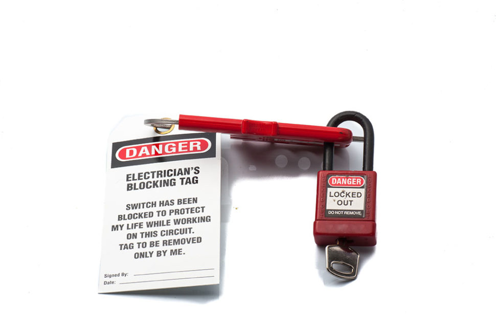 Lockout/tagout safety practices