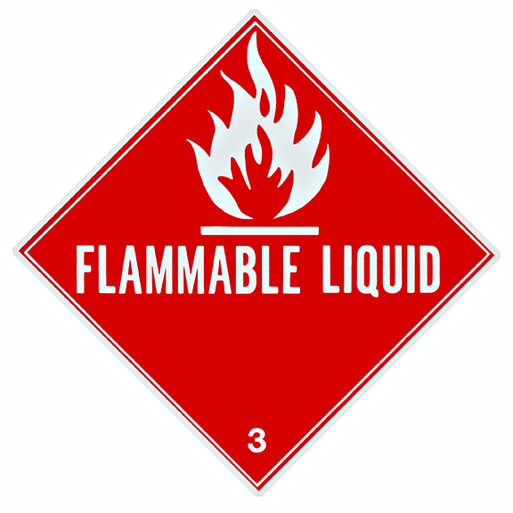 Flammable GHS placard