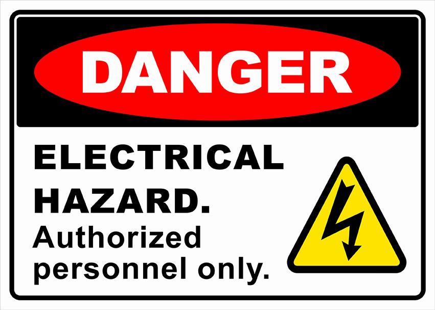 Electrical danger signage