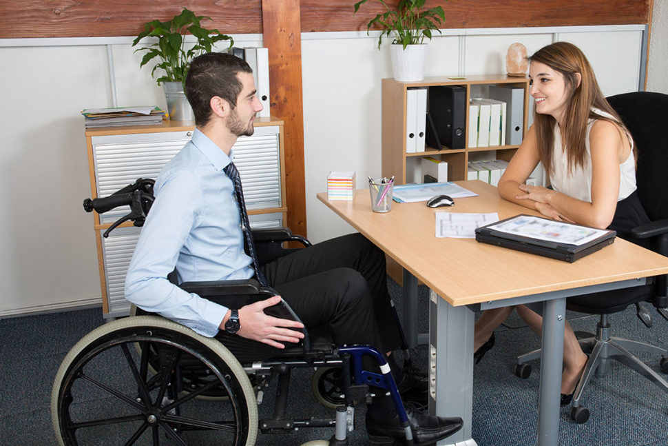 Disabled potential employee