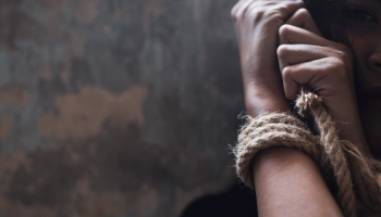 Female human trafficking victim