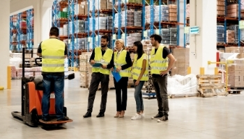 Employees In Forklift Training