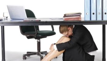 Woman Under Desk