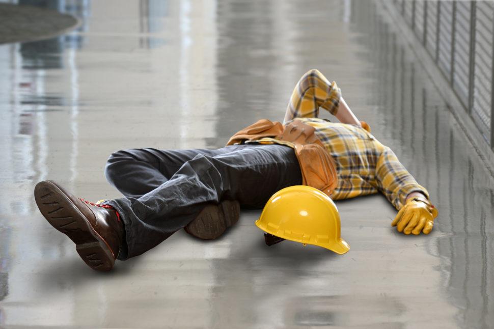 Injured Construction Worker On Floor