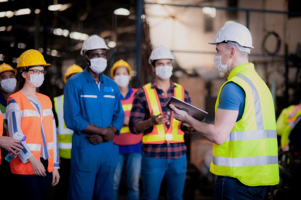 warehouse manager conducts job hazard analysis