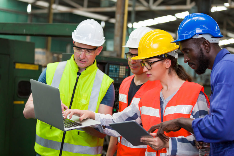 workers review information