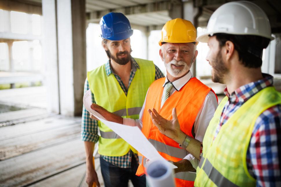 construction workers meet