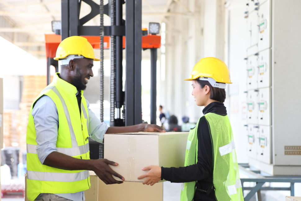 workers help each other