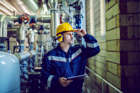 Safety manager performing an audit